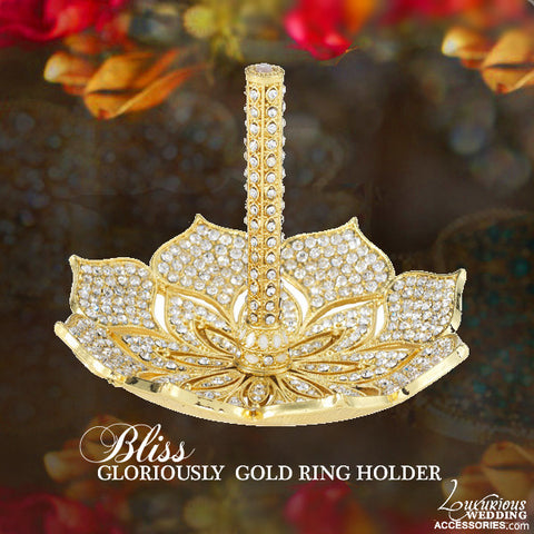 Bliss Gloriously Gold Swarovski Crystal Ring Stand