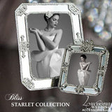 Swarovski Crystal Silver Mirrored Deco Picture Frames