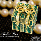 Bliss Bella Bow Gold & Crystal Engagement Ring Presentation Box
