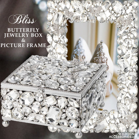 Bliss Butterfly Swarovski Crystal Picture Frame