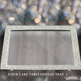 Swarovski Crystal Silver Cake Table Display Set Bliss Fleur