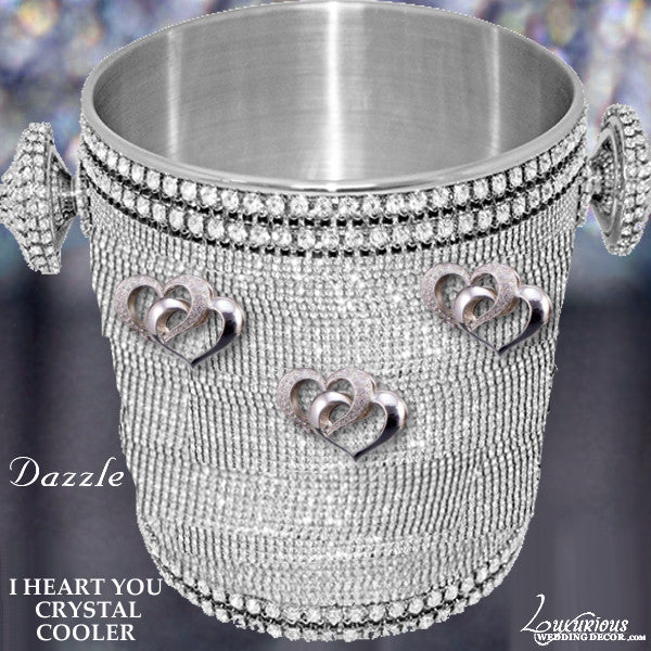 Swarovski Crystal Wine Champagne Cooler Dazzle I Heart You