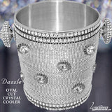 Dazzle Swarovski Crystal Oval Cut Champagne Cooler Ice Bucket