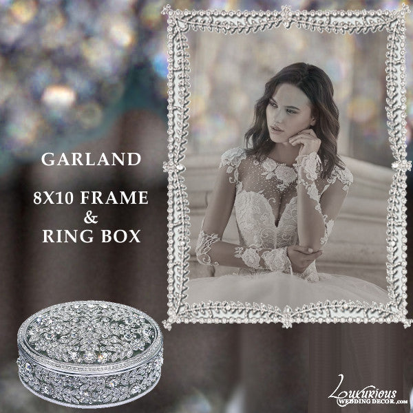 Swarovski Crystal 8x10 Picture Frame Bliss Garland