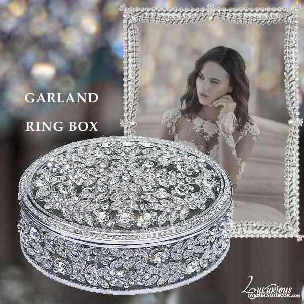 Swarovski Crystal Engagement Ring Box Bliss Garland