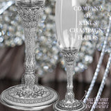 Swarovski Crystal Champagne Toasting Flute Company of Kings