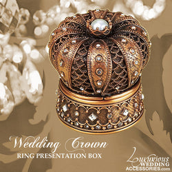 Wedding Crown Ring Box