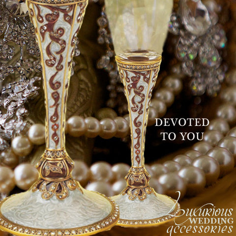 Champagne Toasting Flute Devoted To You