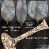 Champagne Toasting Flute Intertwined Pearl