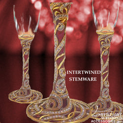 Champagne Toasting Flute Intertwined Garnet