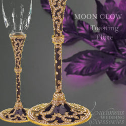 Champagne Toasting Flute Moon Glow Purple