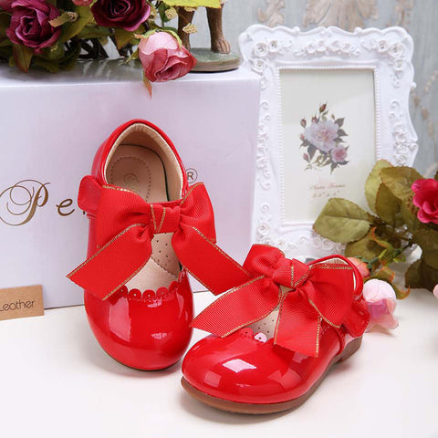 Pettigirl Girls Bow Shoes 5 Colors