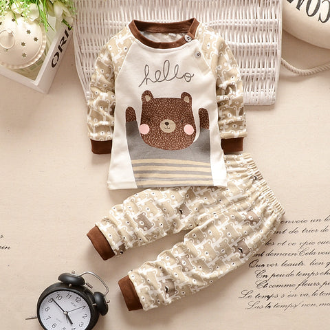 Baby boy clothes cotton baby girl clothing sets cartoon long-sleeved t-shirt+pants infant clothes 2pcs suit
