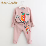 Bear Leader Winter Girls Clothing Sets Active Boys Clothing Sets Children Clothing Cartoon Print Sweatshirts+Pants Suit