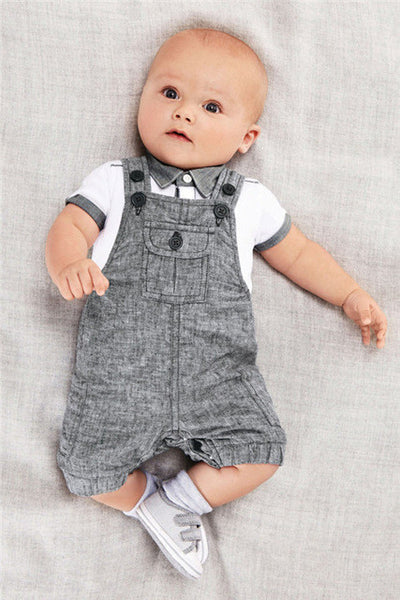 Baby boy clothing set ( T-shirt + Overalls baby suit)