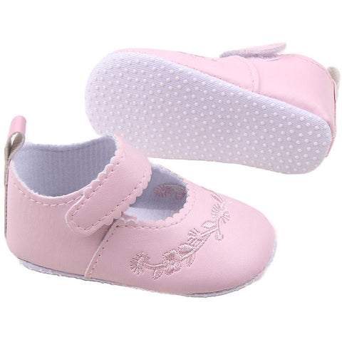 Kid Girl Pu Leather Princess Crib Shoes Newborn Comfy Outdoor Baby Shoe 0-1 Years 4 Colors