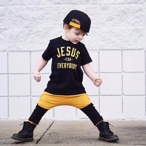 Jesus for Everybody 2pcs Cool Baby Boy Clothes