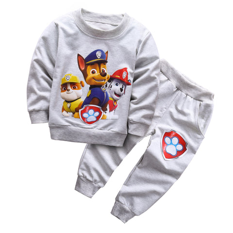 Spring Baby Boys Clothing set Casual Sport  Tracksuit Infant Toddler boys Clothes Top T shirt + Pants