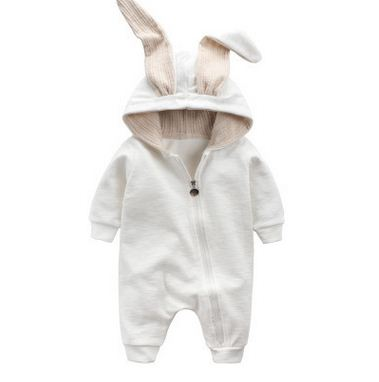 a5d6076ff Cute Rabbit Ear Hooded Baby Rompers For Babies Boys Girls Clothes ...