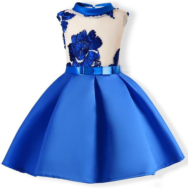 24770d547afded Baby Girl embroidery Silk Princess Dress for Wedding party Kids Dresses for Toddler  Girl Children Fashion