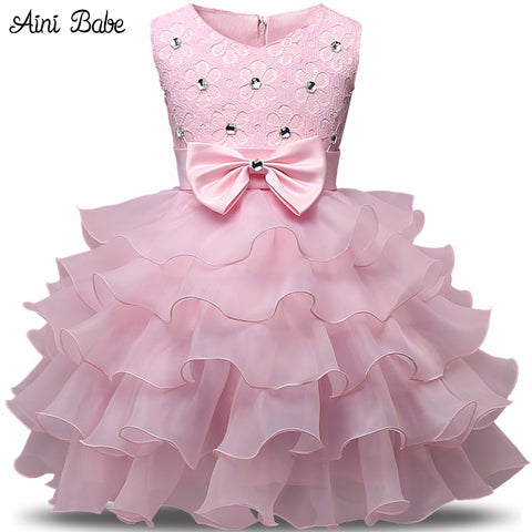 Flower Girl Dress Summer 0-8 Years Floral Baby Girls Dresses Vestidos 9 Colors Wedding Party Children Clothes Birthday Clothing