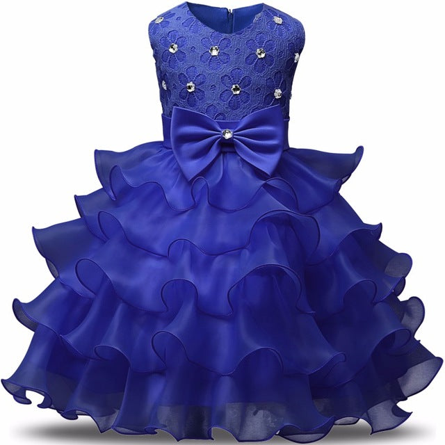 Flower Girl Dress Summer 0 8 Years Floral Baby Girls Dresses Vestidos 9 Colors Wedding Party Children Clothes Birthday Clothing