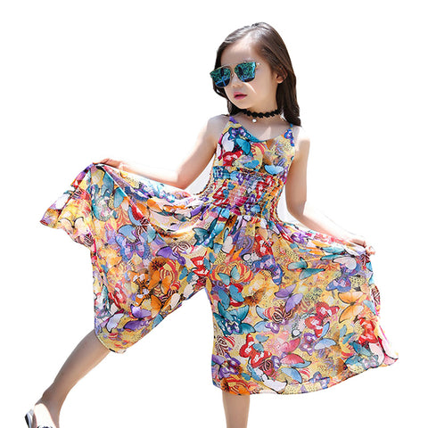 Bohemia Children Dress Girls Summer Floral Party Dresses Toddler Clothing Kids 7 10 14 Years Old Girls Dress For Baby