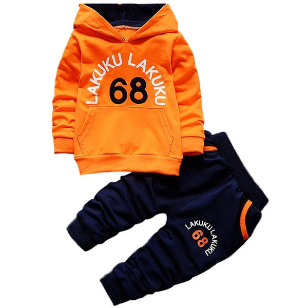 Spring Autumn Boy's Girl's Clothing Sets Sport Pullover Set Fashion Kid 2pic Suits Set Toddler Striped Tracksuit baby
