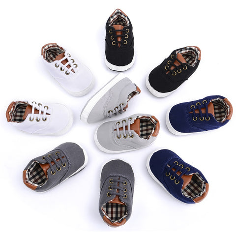 Toddler Infants Shoes  Baby Boys Shoes First Walkers Canvas Sneaker