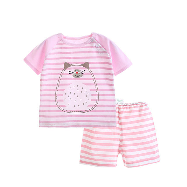 73797b964da88 Summer Newborn Baby Outfits Baby Suit Clothing Pajamas Sets Baby Children Suits  Baby Boys Girls Clothes