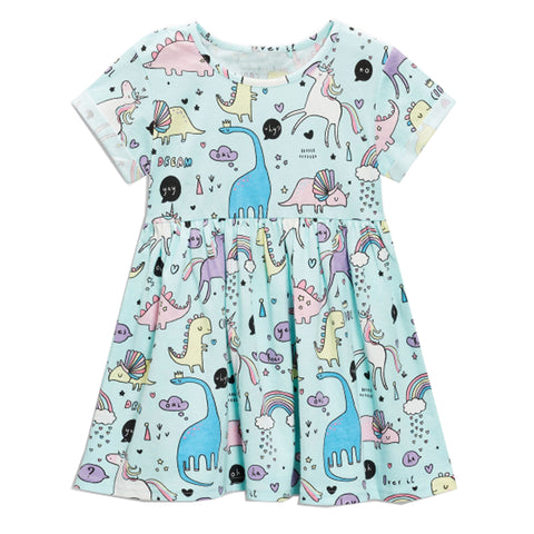Baby Girls Dress Summer Unicorn Costume for Kids Clothing  Children Party Dresses for Girls Clothes Princess Flamingo Dress