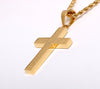 Image of Lord's Prayer Silver or Gold Plated Cross Necklace