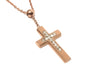 Image of Gold Cross Necklace with Crystal for Women / Girl