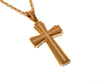 Image of Cross Necklace Silver or Gold Plated with CZ Gemstone for Men