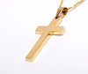 Image of Silver or Gold Plated Cross Pendant Necklace