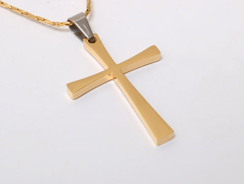 Silver or GoldPlated Cross Necklace for Women, Girl