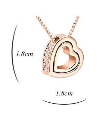 Eternal Love Heart Pendant Gold Plated Fashion Jewelry Necklace