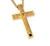 Image of Lord's Prayer Gold Cross Pendant Necklace for Men