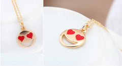 Smiley Emoji Gold Plated Fashion Pendant Necklace – Great Christmas Presents for Emoji Fans