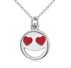 Image of Smiley Emoji Silver Plated Fashion Pendant Necklace – Great Christmas Presents for Emoji Fans