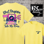 West Virginia Take Me Home Jeep Print, Southern Style