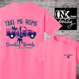 West Virginia T-shirt. Take Me Home Country Roads Vintage Truck Print, Southern Style