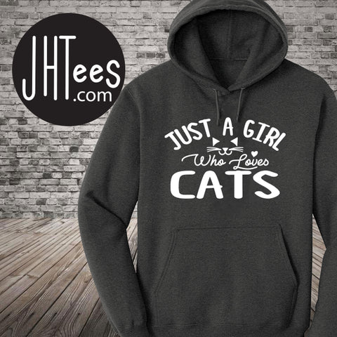 Just a Girl Who Loves Cats Hoodie. Special Sale!