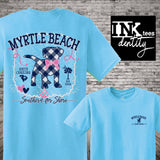 Myrtle Beach Spring Break 2020 T-shirt, Summer Fun Puppy Dog Print, Southern style, Senior Week