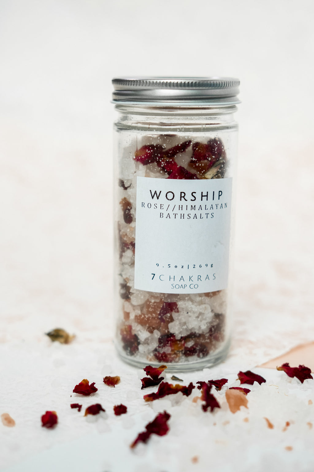 WORSHIP Rose Himalayan Bath Salts