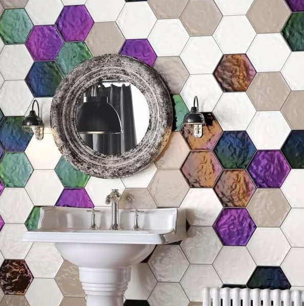 deep-blue-hexagon-bathroom-tiles