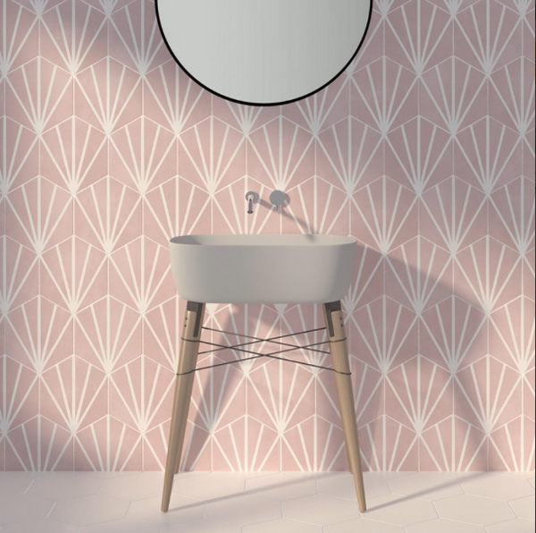 hexagon-patterned-wall-tile