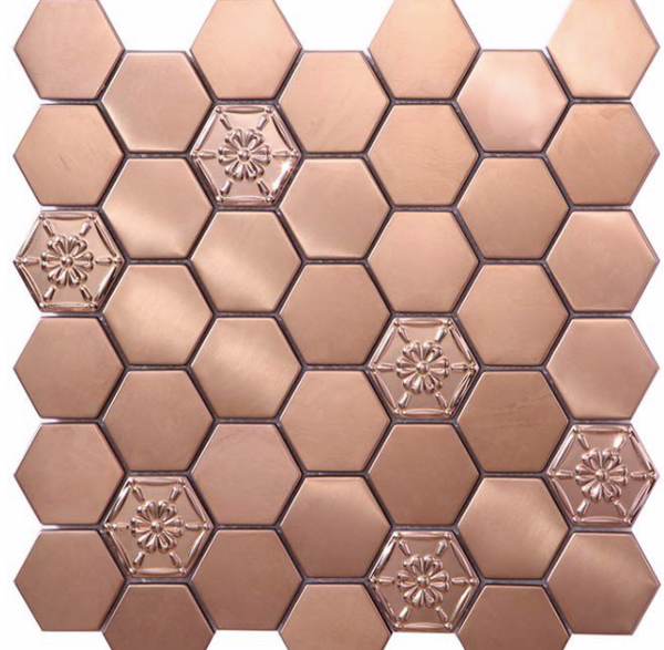 Rose-gold-hexagon-kitchen-mosaics