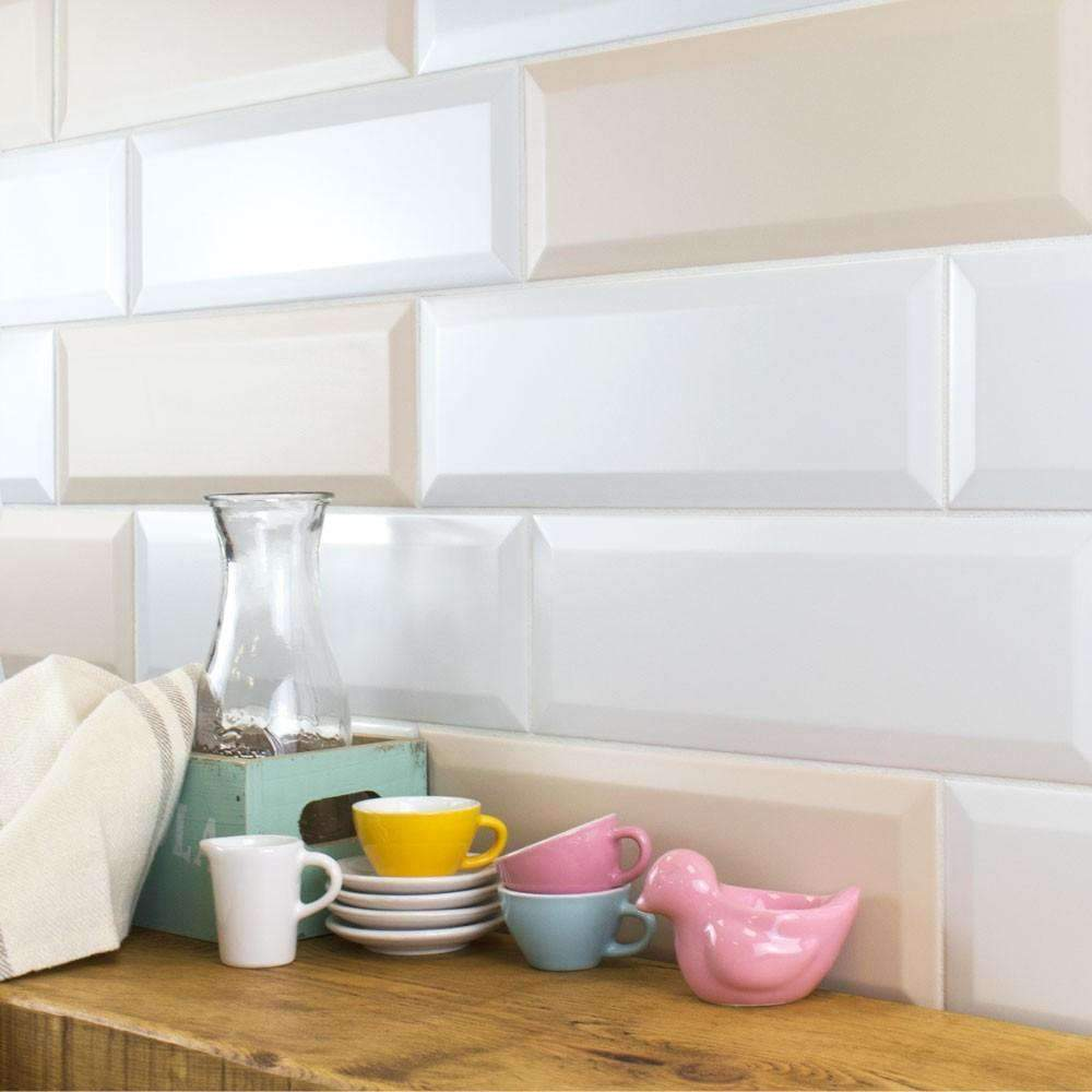 Slimline White Matt Metro Tile - Appleby's Tiles