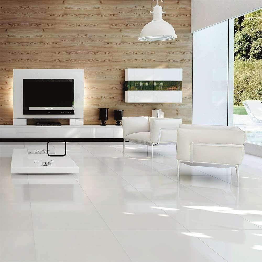 Antarctic Large White Gloss Floor tile